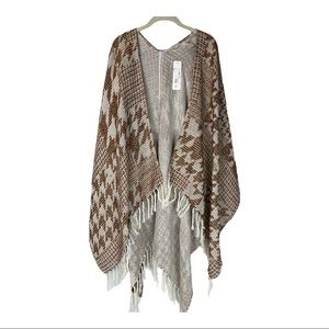 Soft Surroundings open front shawl wrap NEW